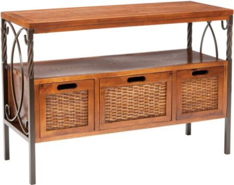 Safavieh Jasper Antique Pewter Dark Walnut Finish Console Table