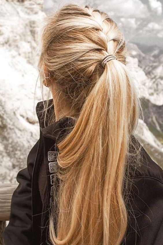 Easy And Stylish Casual Hairstyles For Long Hair Long Hairstyle Ideas Long Hair Styles Braided Ponytail Hairstyles Hair Styles