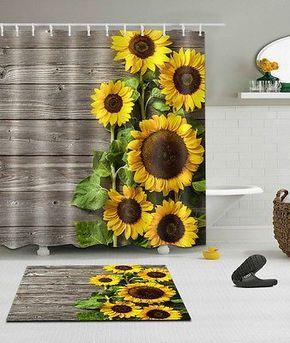 Picture 11 Of 14 Sunflower Bathroom Bathroom Curtains Unique