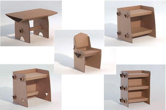 como hacer muebles de carton para casita de mu ecas