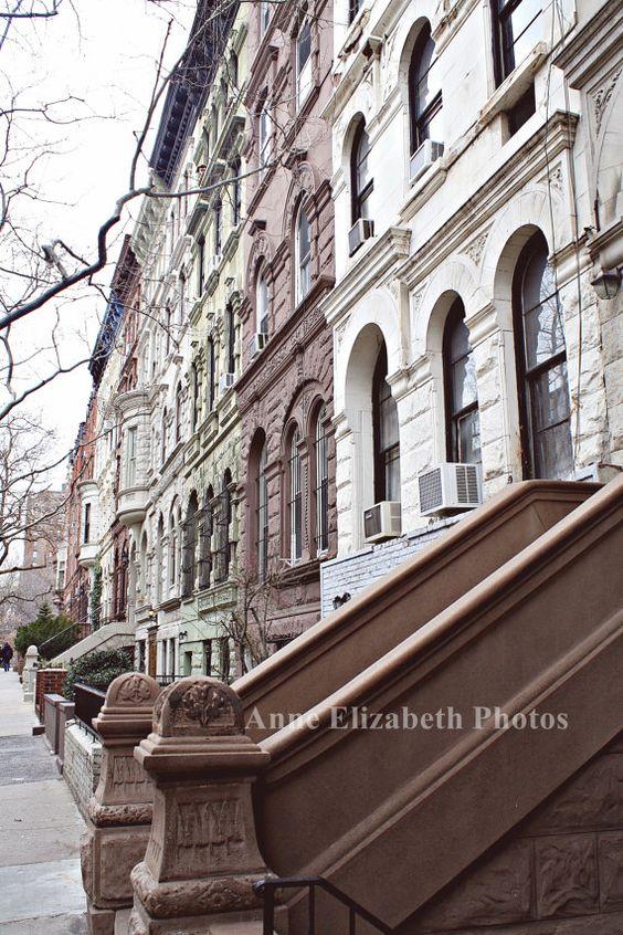 NYC-Brownstones- New York City- 8 x 10 - Fine Art Photograph - Upper West Side - AnneElizabethFineArt via Etsy #fpoe