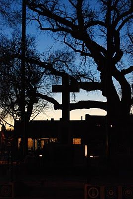 Santa Fe Daily Photo: Black Cross, Blue Sky