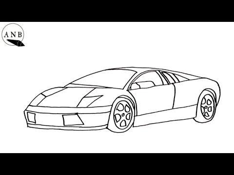 كيف ترسم سيارة لامبورجيني خطوة بخطوة رسم سهل How To Draw A Lamborghini Car Step By Step Youtube In 2021 Easy Drawings Drawings