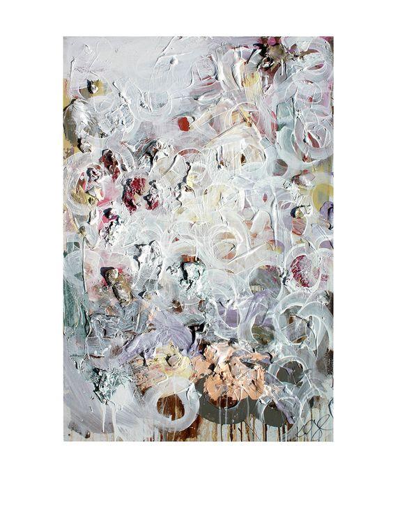 "Kent Youngstrom ""White Circles"" Hand-Painted Original Artwork at MYHABIT"