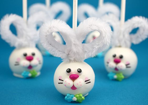 Adorable bunny cake pops!