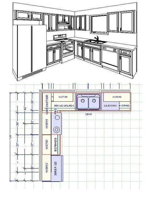 Standard Kitchen Dimensions Kitchen Cabinet Layout 10x10
