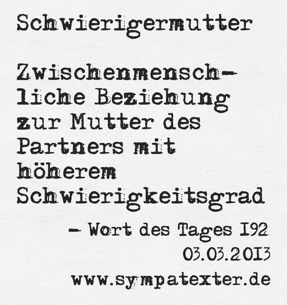 Schwierigermutter - www.sympatexter.de