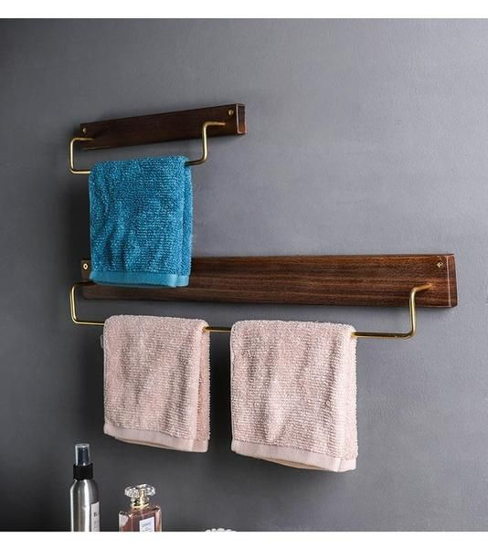 Alma Wooden Towel Rack Towel Rack Towel Fancy Towels