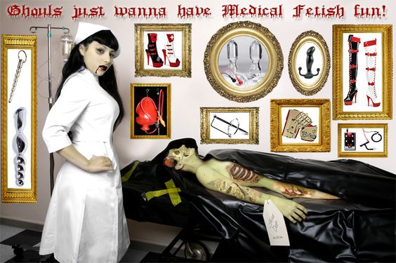 Vampire Nurse and Zombie Halloween ~ MedicalToys.com