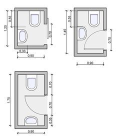 Tiny Powder Room Layouts