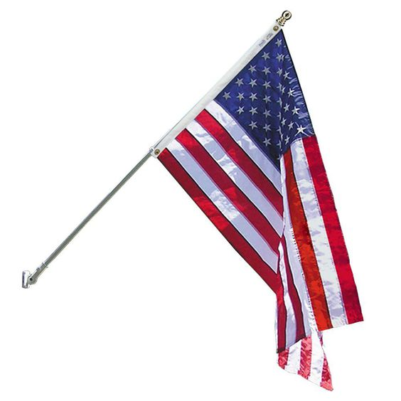 Annin Flagmakers Estate 3 Ft X 5 Ft Nylon Us Flag With 6 Ft Spinning Flagpole