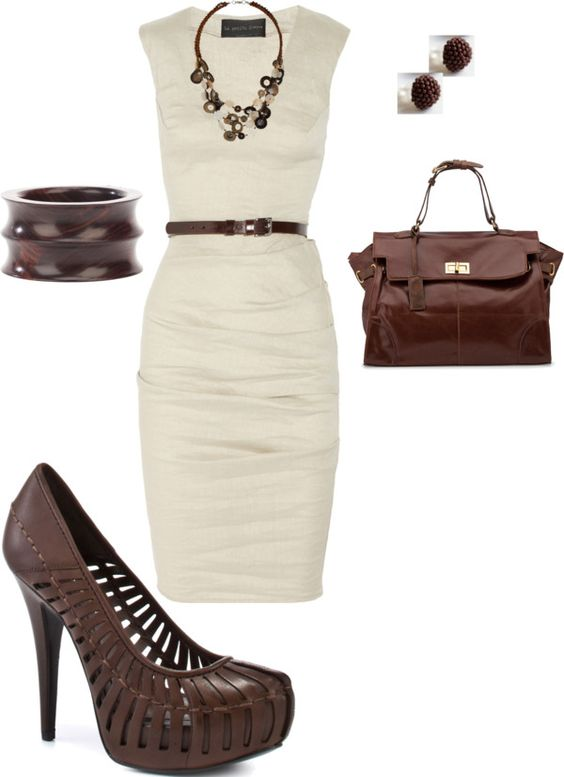 """""""white and brown"""" by lindsey-ellis on Polyvore"""