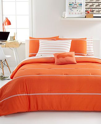 lacoste home thames orangeade comforter sets - bedding collections