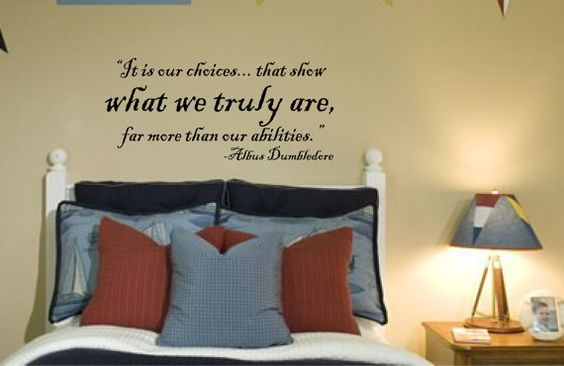 Harry Potter Quote by Dumbledore Vinyl Wall Decal by bushcreative