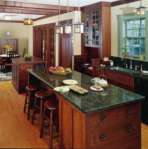 Mission Style Kitchen Cabinets Quarter Sawn Oak kennebec craftsman style kitchen cabinets--quarter sawn oak