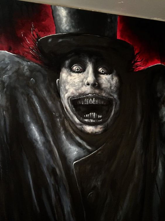 The babadook stands 3x8 ft tall double canvas oil by ZackDunnArt