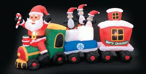 Christmas Inflatable - Santa Train Christmas inflatables