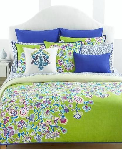 Color Inspiration: Royal Blue And Lime Bedding