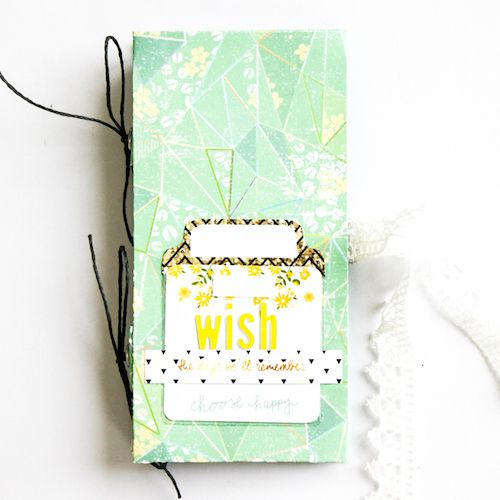 Notebook with Keepsake Envelope, inspired by a project by #Floliescrap on a previous blog post! #Scrapmanufaktur uses a Keepsake Envelope to embellish the front of her notebook. Also uses product from #Prima #WebstersPages