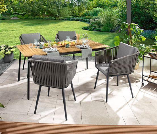 119 00 Sitzkomfort In Seiner Schonsten Form Der Sessel Rope Ist Ein Echter Hingucker Fur Terras Gartensessel Ausziehbarer Gartentisch Eine Veranda Bauen