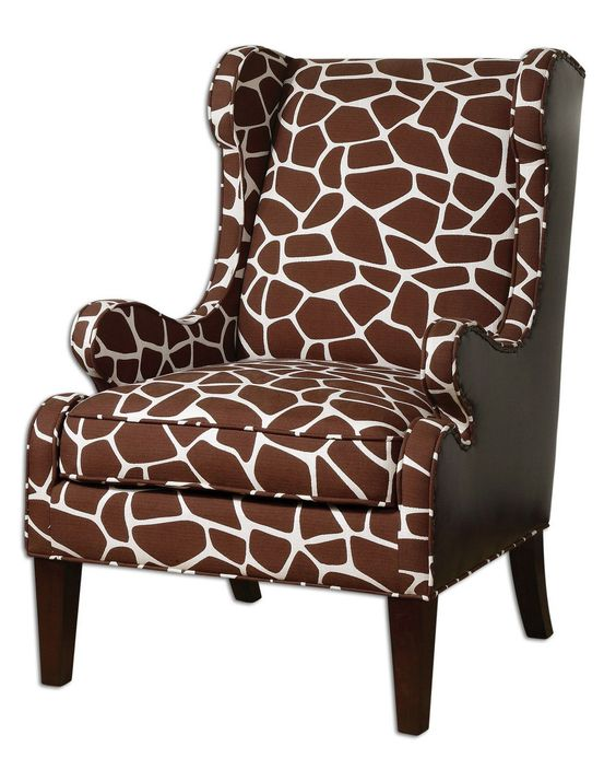 Giraffe Print Armchair -- NO WAY! Too bad it's over $1000 hahaha