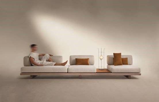 Turning Japanese. Themed on 'Japan-ness', Patricia Anastassiadis' Geta sofa  for Artefacto slides along its … in 2020   Modular sofa design, Japanese  minimalism, Design milk