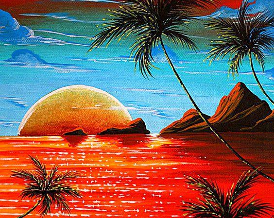 Mejores ideas sobre artisticos dibujados paisajes - Cuadros con colores calidos ...