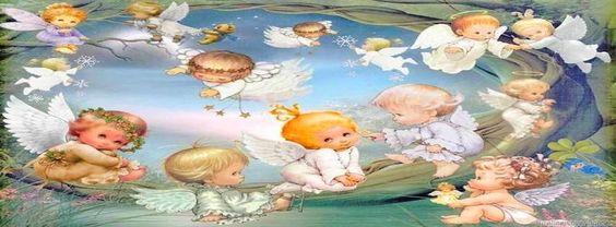 Angels timeline cover banner, little angel for timeline cover