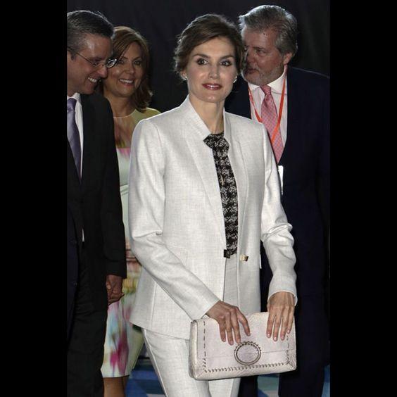 La reine Letizia d'Espagne à Porto Rico, le 15 mars 2016