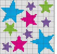 Ravelry: Array of Stars Chart pattern by Niamh Dhabolt