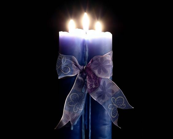 Beautiful Candles and Candlelight with Ribbon!