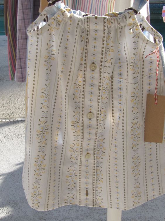 White/blue/brown/yellow dress size 3-4 Daddy's Button Shirt $22 Sold at Great Day in the Country Oviedo 11/8/14