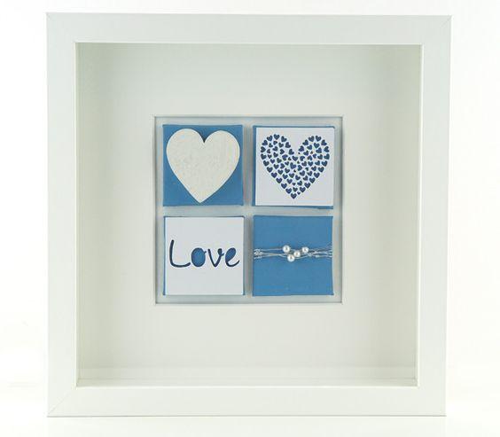 Wanddeko - Herz Dekoration Bild  - ein Designerstück von schoenes-von-Herzen bei DaWanda