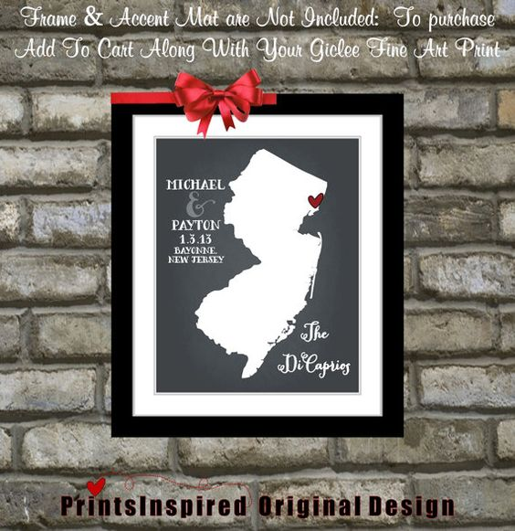 Hey, I found this really awesome Etsy listing at https://www.etsy.com/listing/116617800/custom-new-jersey-wedding-gift-map-state
