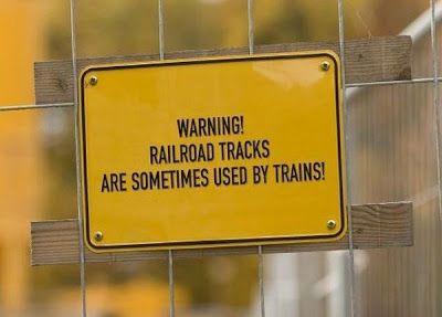Funny Railroad Signs!