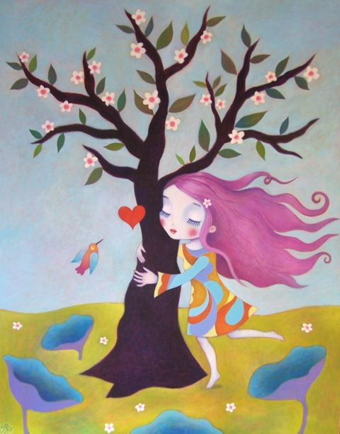 """Felicity Tree Hugger"" - By Isabelle Bryer"