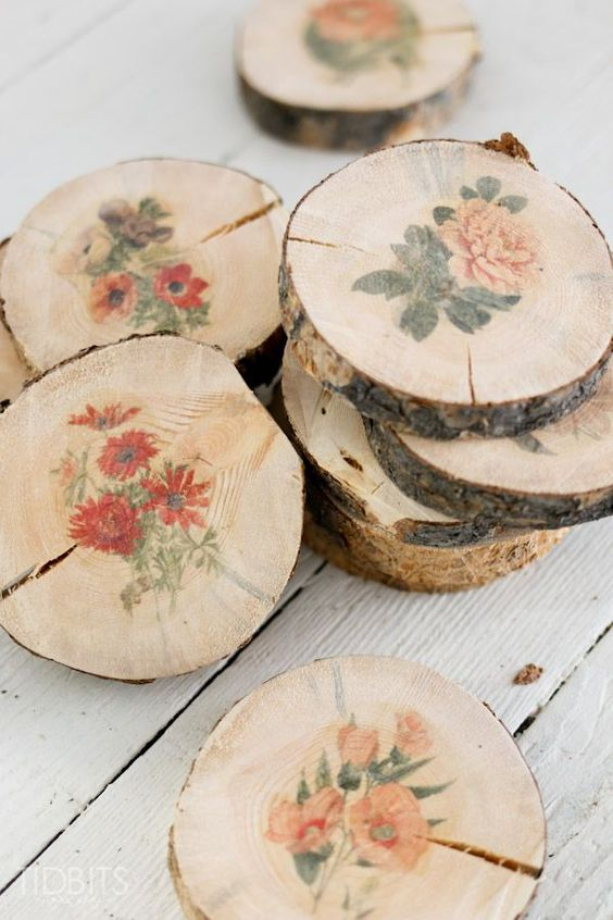 Learn how to make botanical wood slices with a simple image transfer technique. Then discover 6 beautiful ways to use them in your home.