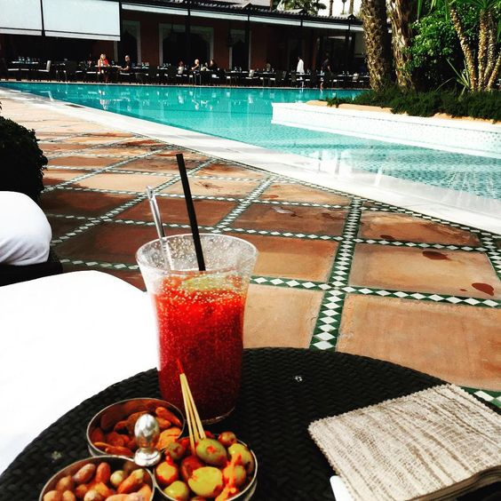 Bloody Mary by the pool beats Boxing Day on the sofa @lamamouniamarrakech