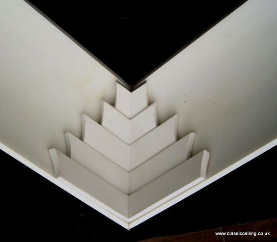 Art deco over corners for 4 or 5 coving extreme pattern for Diy art deco furniture