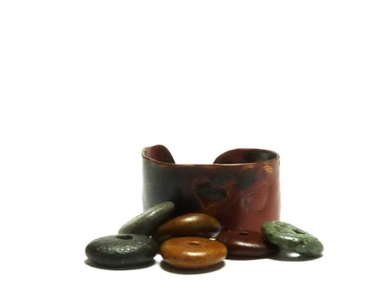 Small Pebbles TANGO Chili Pepper Colors  Beach Stones  by StoneMe