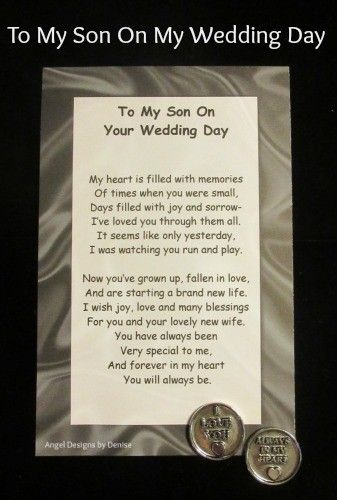 To My Son on Your Wedding Day token set