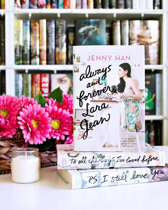 Happy Book Birthday to Always and Forever Lara Jean by Jenny Han!! --- If you didn't already know how excited I was to have this book let me tell you I'm pretty darn excited. This is one of those books where I just want to DROP EVERYTHING and devour it but I can't because I'm on a schedule. (Which I'm hoping to get through as quickly as possible so I can read this already. ) --- Isn't this the prettiest cover ever?? I love it.  --- #newbook #jennyhan #alwaysandforeverlarajean #toalltheboysivelov