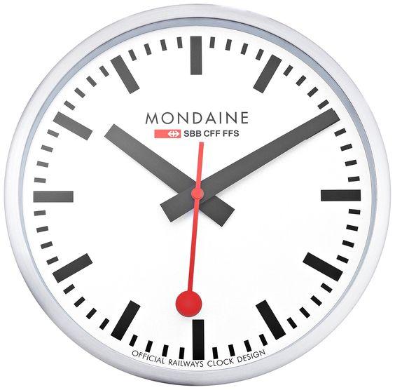 Mondaine A990 Clock 16sbb Wall Clock White Dial With Images Wall Clock Clock Wall Clock Analog