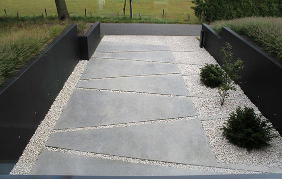 modern landscape design with stepping stone | interlocking concrete stepping stones : vertus,modern ...
