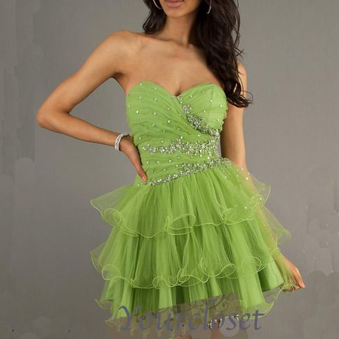 prom dress prom dress - Amazing rhinestone green tulle short prom dress #promdress #cute #love #coniefox #2016prom
