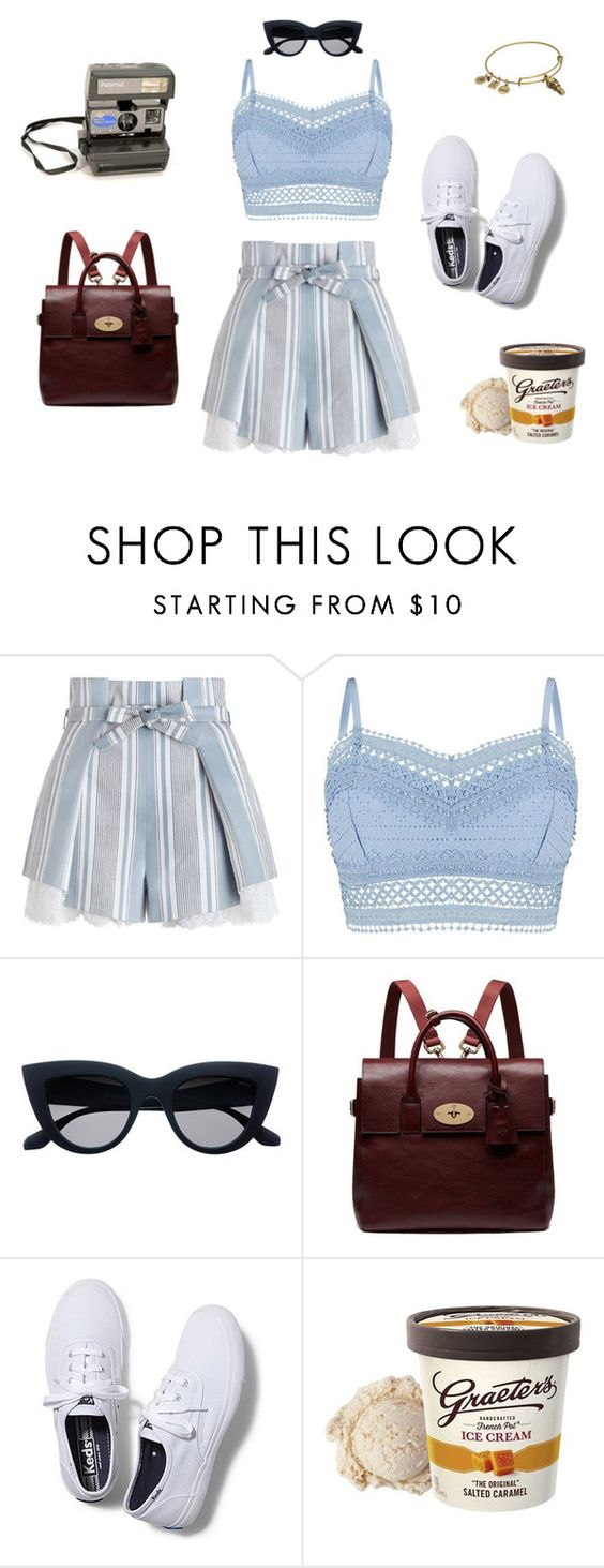 """""""Ice Cream Parlor"""" by sangiamoe on Polyvore featuring Zimmermann, Lipsy, Mulberry, Keds and Alex and Ani"""