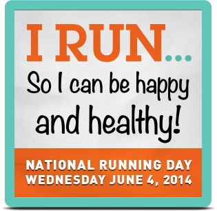 Christa's National Running Day 2014 Badge
