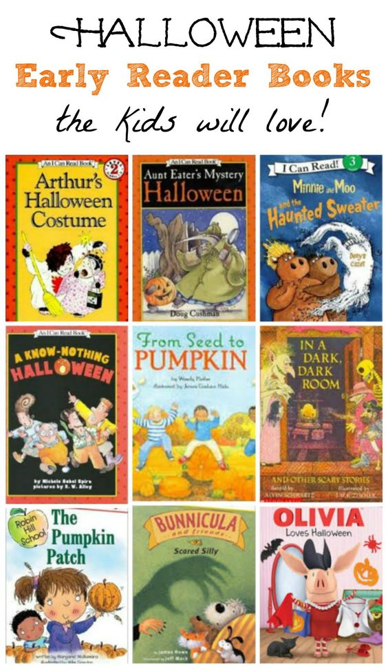 Awesome list of Early Reader (ER) books with holiday themes!  These Halloween titles are a great way to inspire kids to practice their reading.