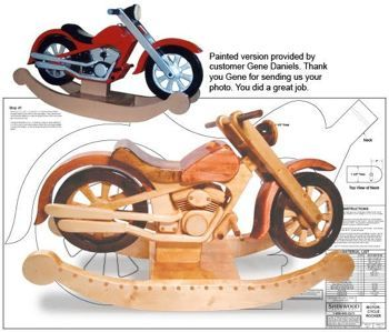 11 1947 roarin motorcycle rocker woodworking plan