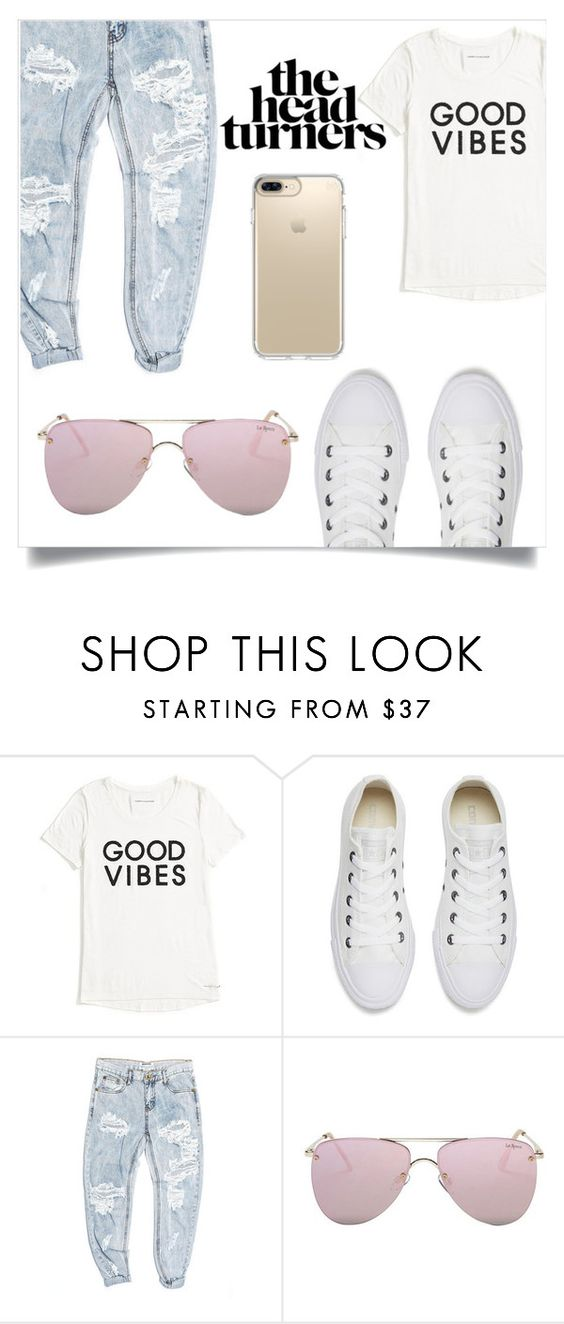 """""""Good vibes"""" by nerd-panda ❤ liked on Polyvore featuring Tommy Hilfiger, Converse, OneTeaspoon, Le Specs and Speck"""